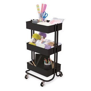 Darice 3-Tier Metal Rolling Cart