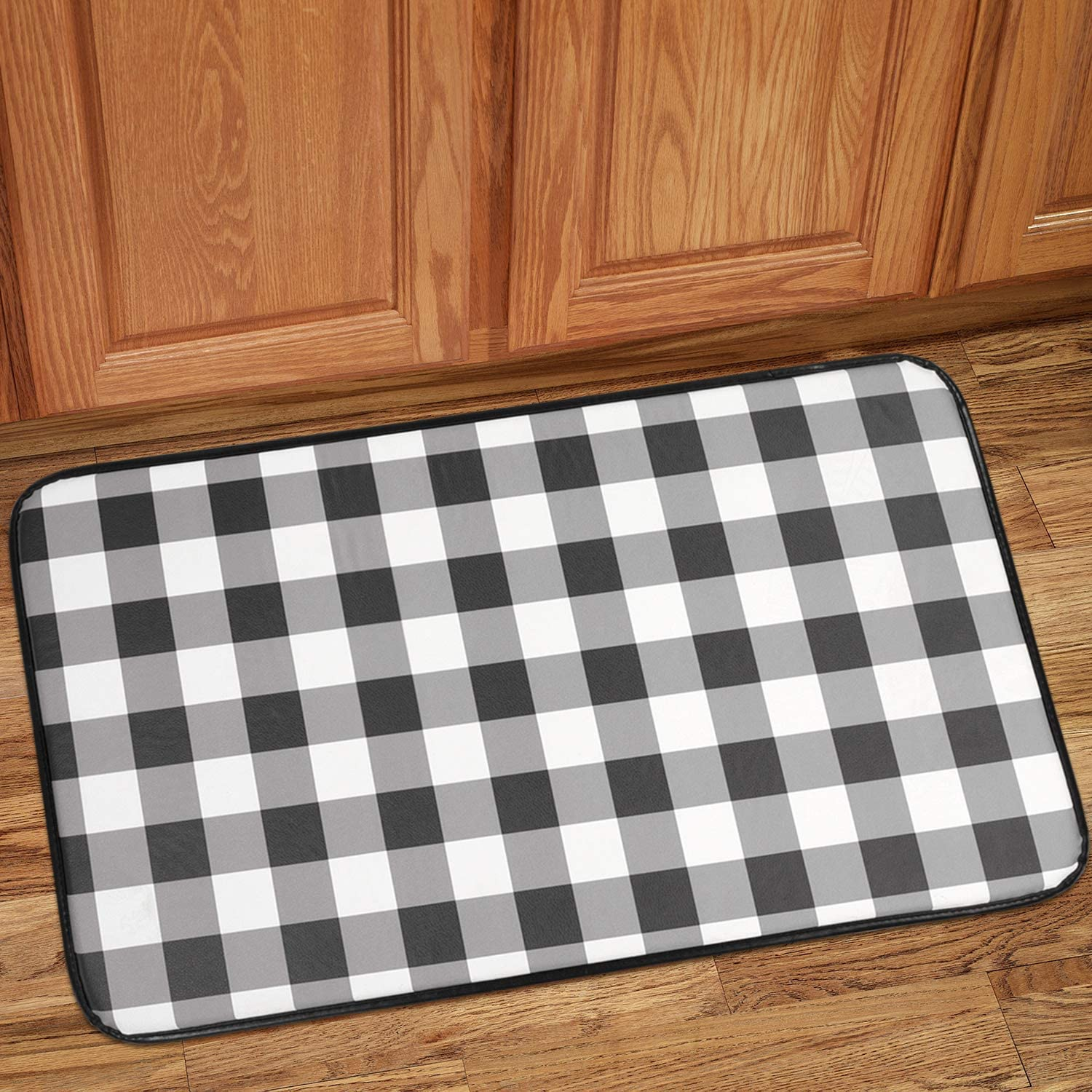 buffalo plaid floor mat