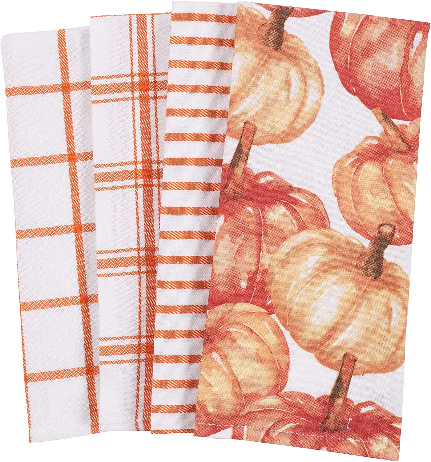Kitchen Fall Pumpkin Dish Towel Set