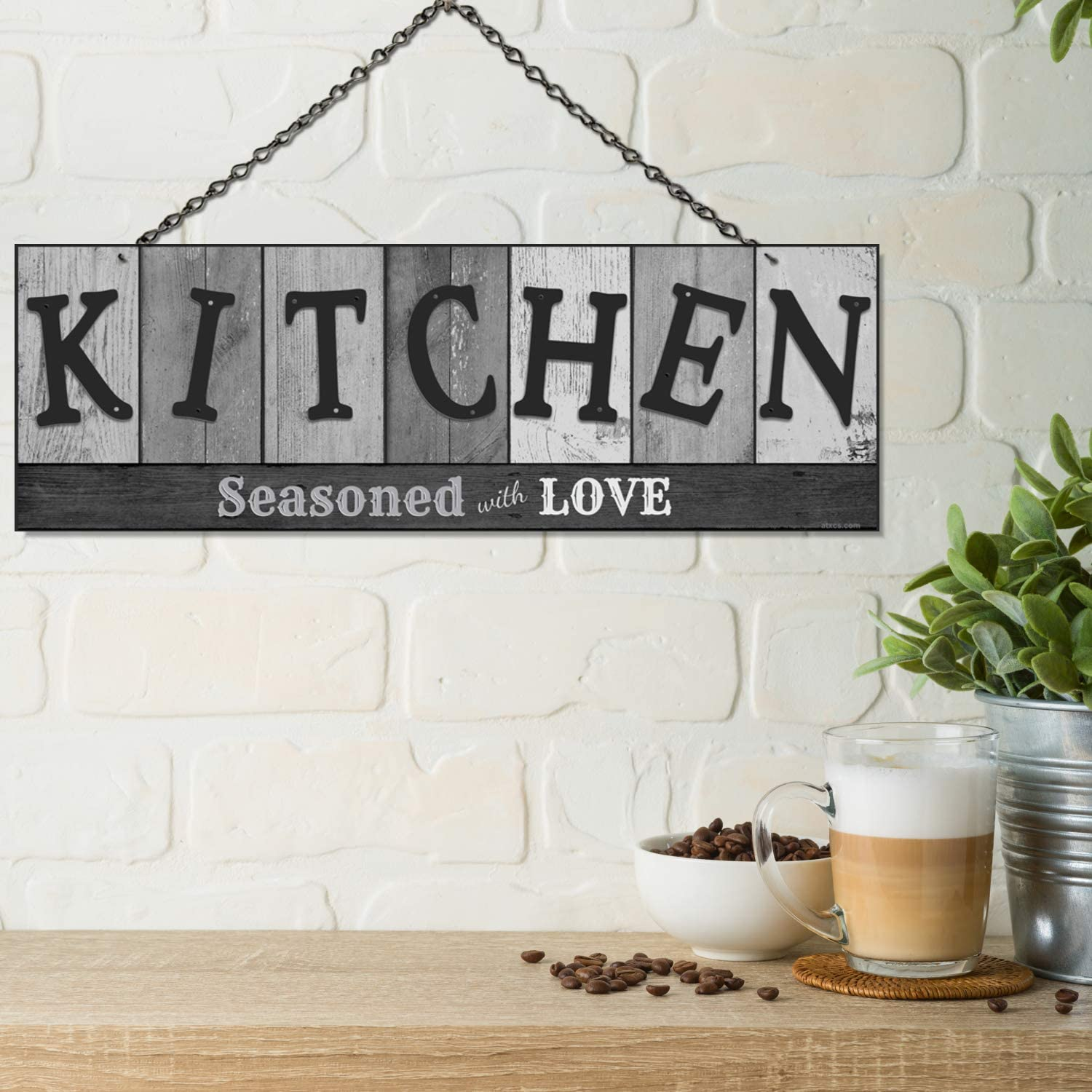 seasoned with love kitchen sign
