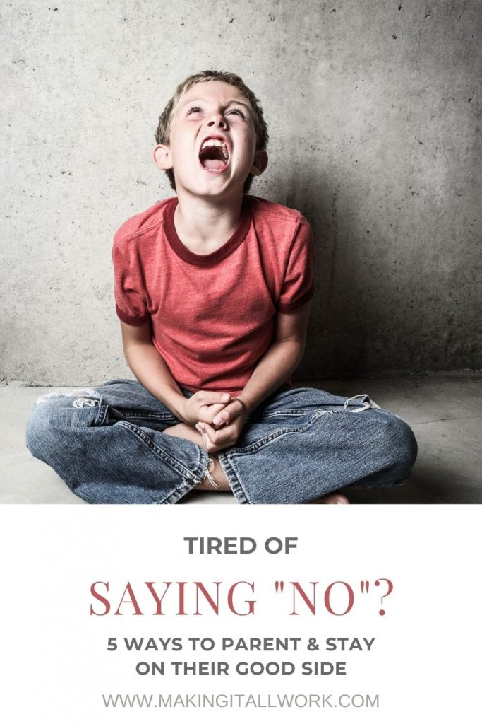Saying no to your child starting to feel like an unending battle everyday? Try these 5 methods to improve both you and child's response.