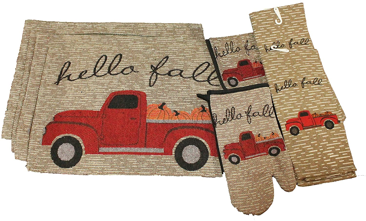 Vintage Truck Fall Kitchen Decor Set