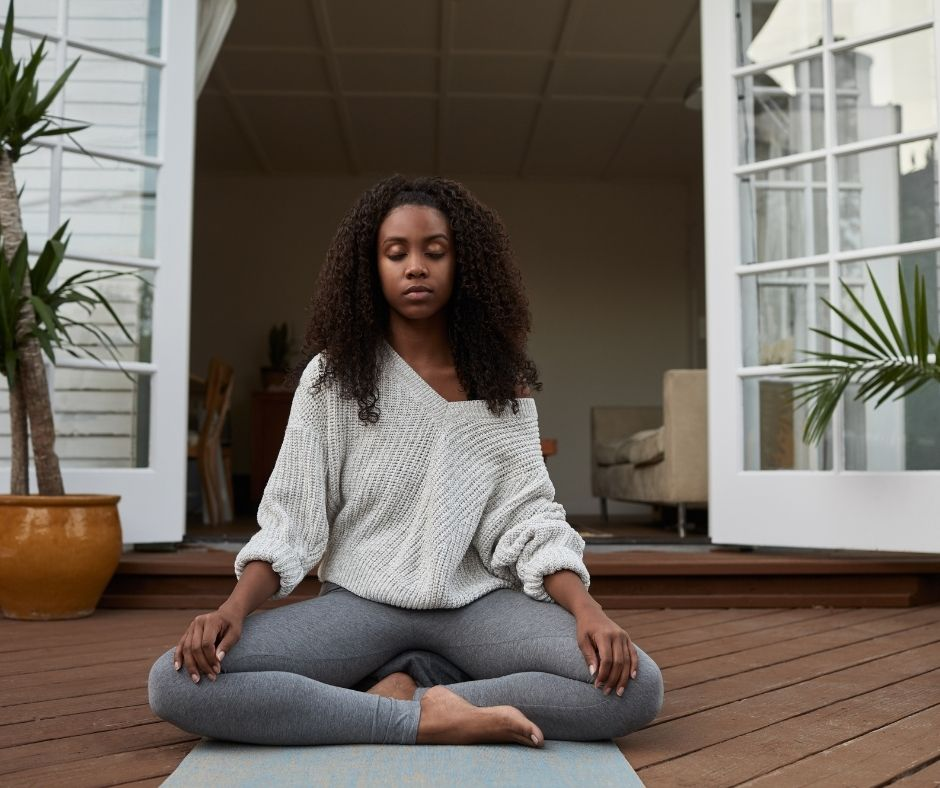 6 Activities You Can Do by Yourself On the Patio - Meditating