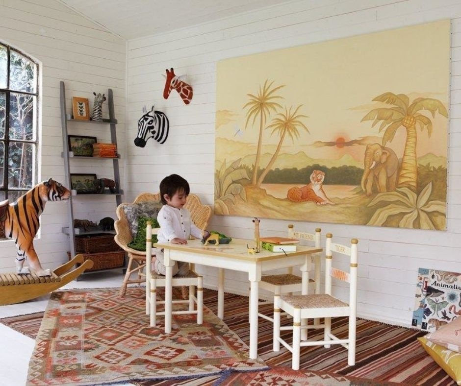 Arranging Kids Room in a Country House